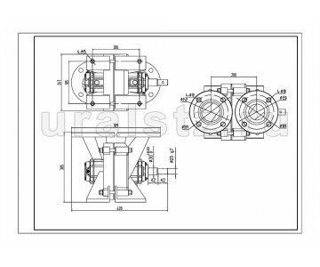На изображении - деталь СВН-80  Насос (аналог 1СВН-80-А) левое вращение