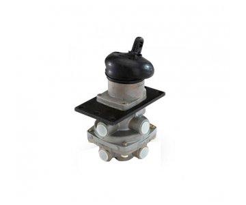 фото: 100-3514008  Кран тормозной двухсекционный ГТК (Китай) (6 отв.)