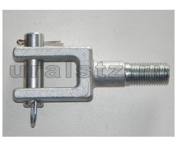 На изображении - деталь 5308-3907330  Комплект буксировочной вилки КАМАЗ 43118 (вилка + палец)