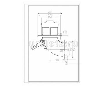 На изображении - деталь ДУ 100 М  Клапан донный ручное управление  4