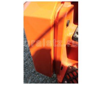 фото: Бампер металлический  43118.66.01.100-02 на Камаз 43118, Цвет оранжевый.