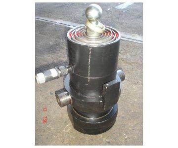 На изображении - деталь 6520-8603010-06  Гидроцилиндр подъема кузова (23т., 3-х строн. разгрузка)